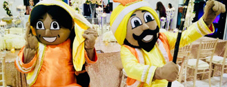 Bhangra Man and Giddha Girl - Mascots